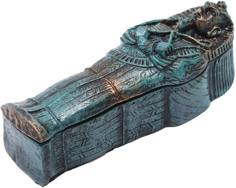 POPETPOP Fish Tank Decor Scary Skeleton Specter Ornament Resin Egyptian Mummy Aquarium Accessory