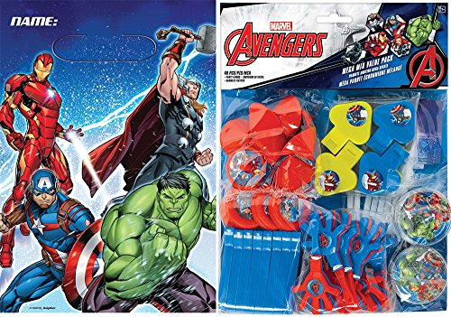 8 ct. Avengers Plastic Loot Bags and 48