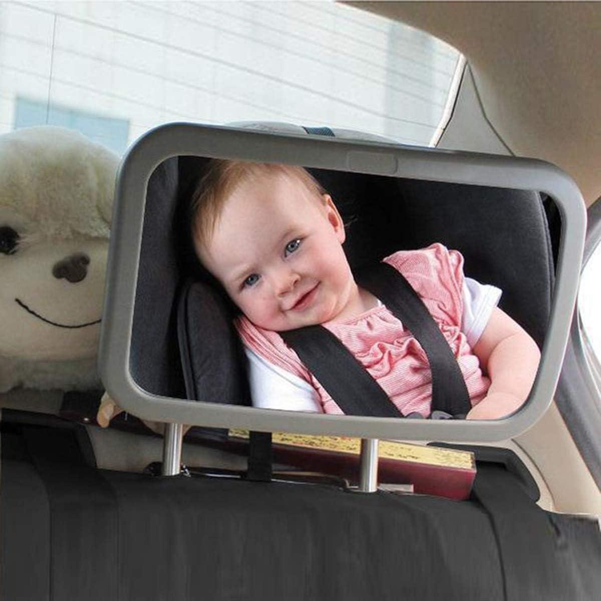 Safety Car Seat Mirror for Rear Facing Car Headrest Mount View Rear Mirror Car Baby Rear Facing Mirror puseky Baby Car Mirror