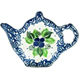 Polish Pottery Teapot Teabag Holder Boleslawiec Poland Traditional Stoneware Pattern 766-1417