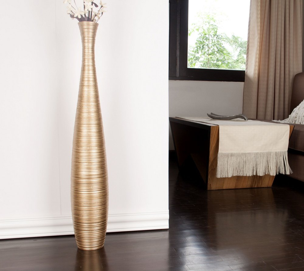 glossy floor bamboo p vase uniquewise l tall vases in orange