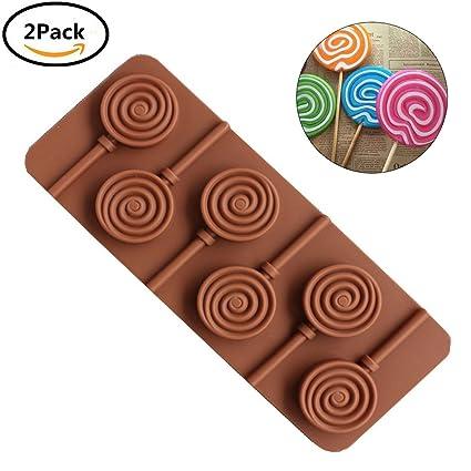 piruletas de chocolate moldes de silicona bpa sin diy chocolate fabricación de herramientas moldes de jalea