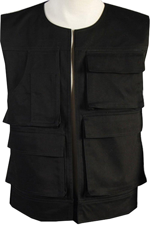 Han Solo Vest Men Fashion Casual Travel Sport Vest Cosplay Costume Male L