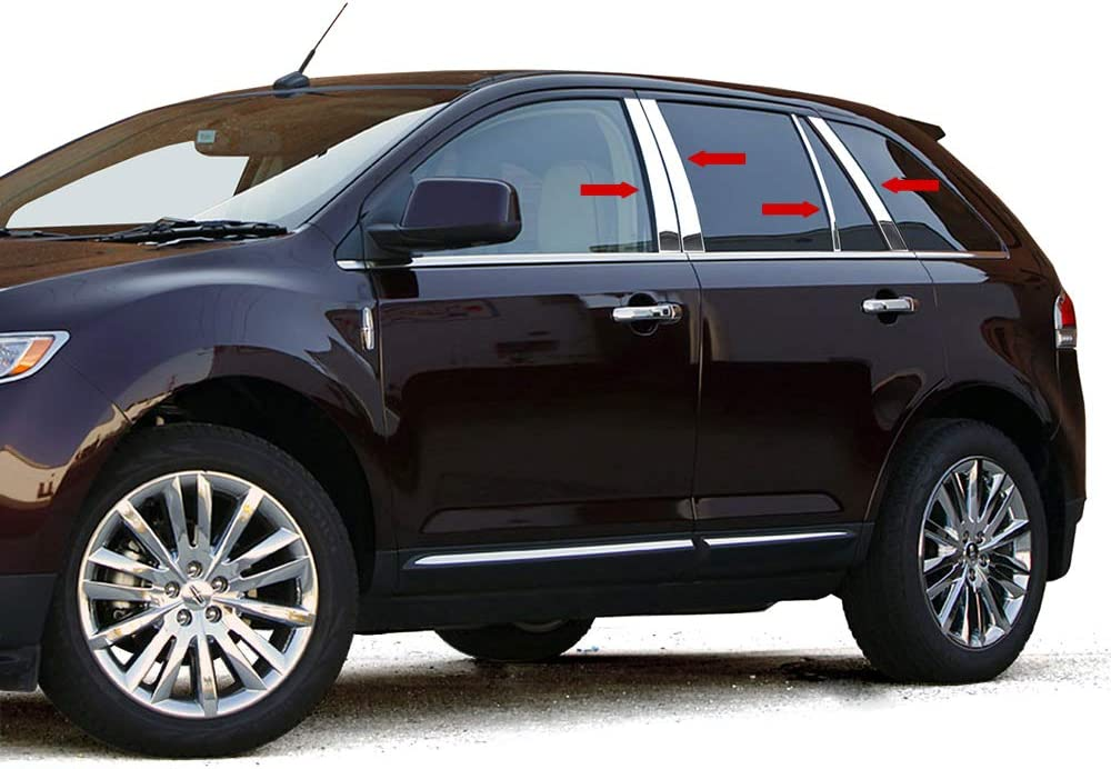 Amazon Com Made In Usa Compatible With 2007 2014 Lincoln Mkx Ford Edge 8pc Stainless Steel Chrome Pillar Post Automotive