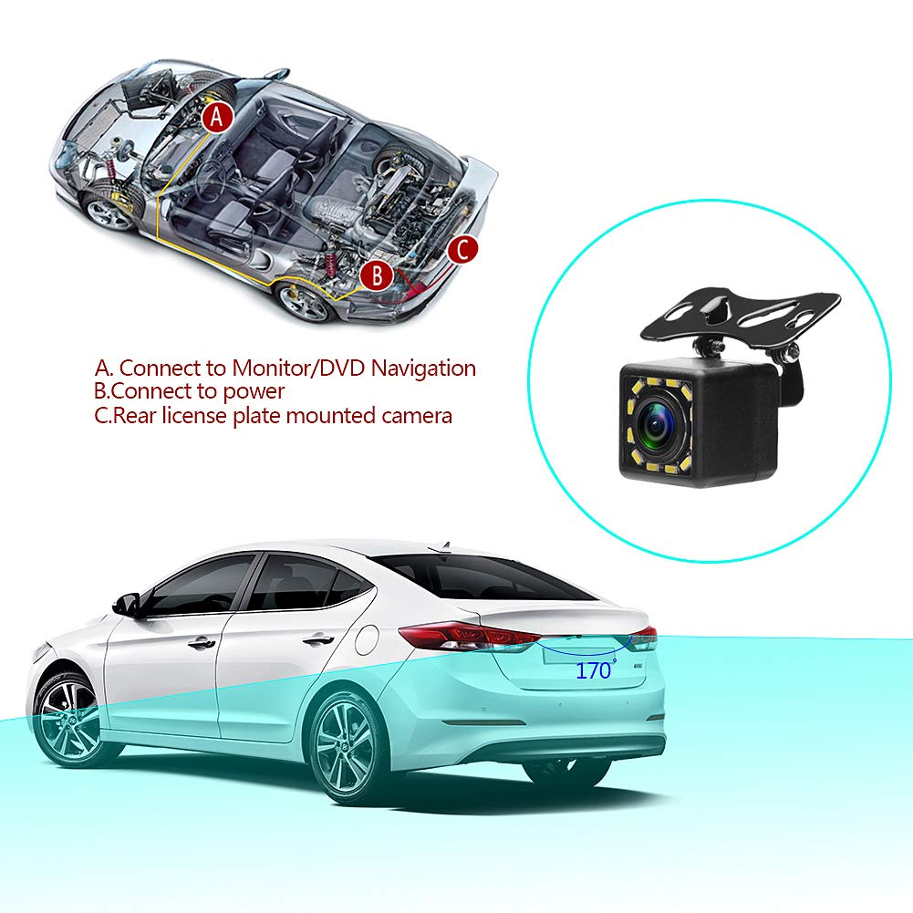 MiCarBa 2.4G Wireless Color Video Transmitter and Receiver Kit for Car Rear View Reverse Camera Vehicle Backup Dash CAM Front Car Camera CL2.4G