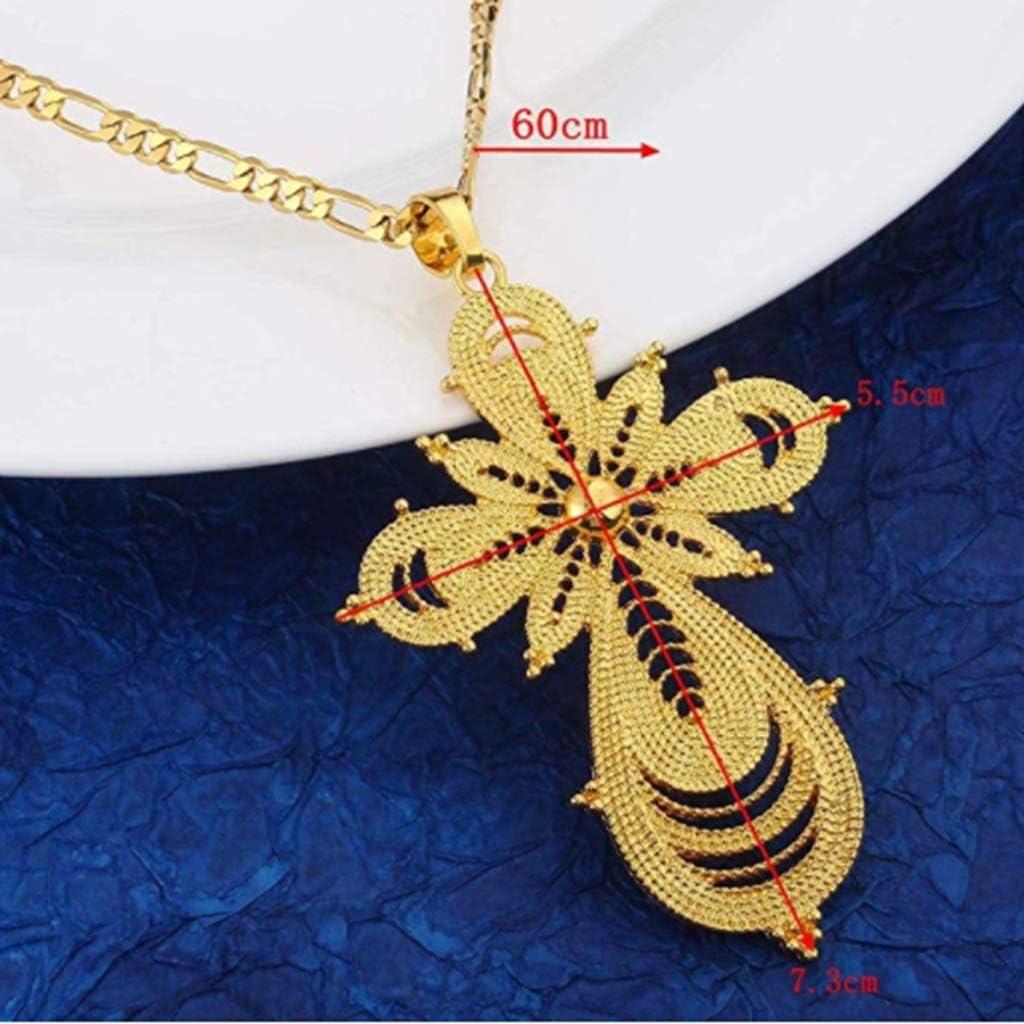 18K Gold Plated Ethiopian Cross Pendant with Ethiopian Eritrea Items
