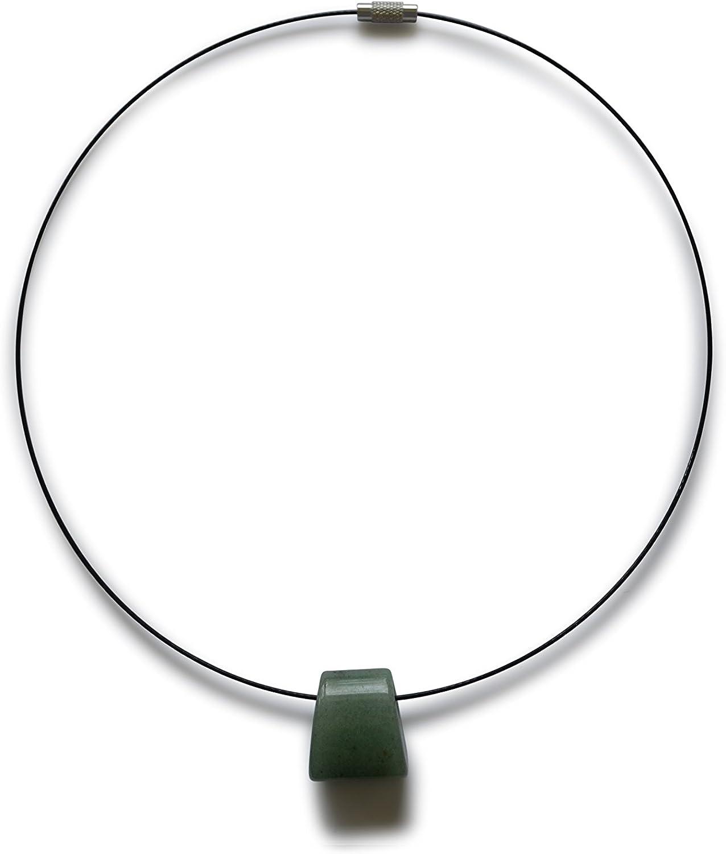 Aventurina verde collar, naturale, 20x21x13mm
