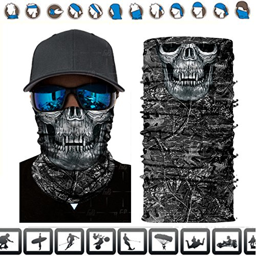 Price comparison product image 3D Face Mask Handband,Bandana ,Mask Shield ,Headwear ,Neck Gaiter, Magic Scarf for Riding ,Fishing,Hiking, UV Protection,UPF 48
