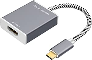 USB C to HDMI Adapter 4K@60Hz, CableCreation USB 3.1 Type-C to HDMI Aluminum Convertor, Compatible with MacBook Pro,MacBook Air,XPS 13 15, Surface Book 2, Galaxy S10 S9 to HDTV, Projector, Monitor