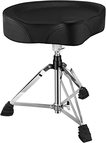Donner Adjustable Drum Throne Moto Seat Padded Stool Motorcycle Style Drum Chair For Music Show Amazon Co Uk Musical Instruments