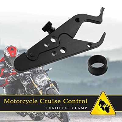Sporacingrts Motorcycle Cruise Control Throttle Clamp- Universal Wrist/Hand Grip Lock Clamp for Throttle Assist: Automotive