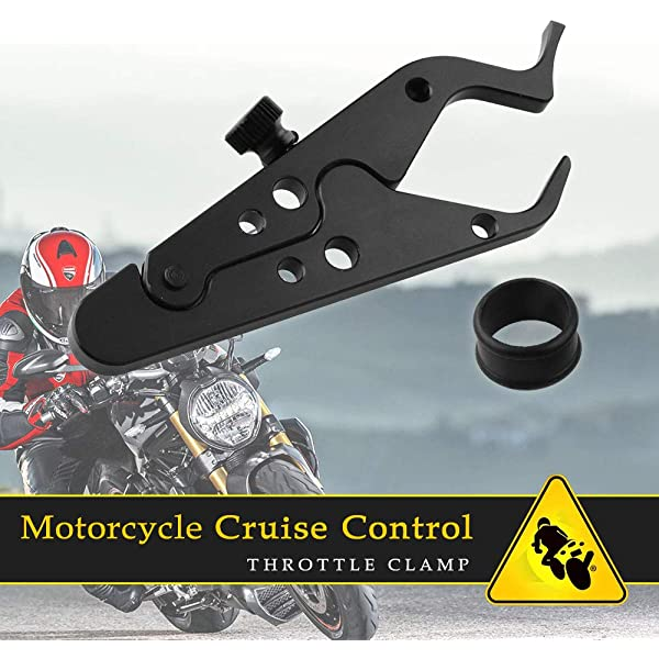 kemimoto 7//8 Motorcycle Throttle Lock Universal Anti-slip Groove Design For Yamaha Honda Cruise Control System Assist