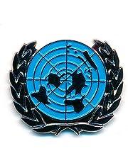 UN UNO verenigde landen wereld symbool badge metaal button pin connector 0788