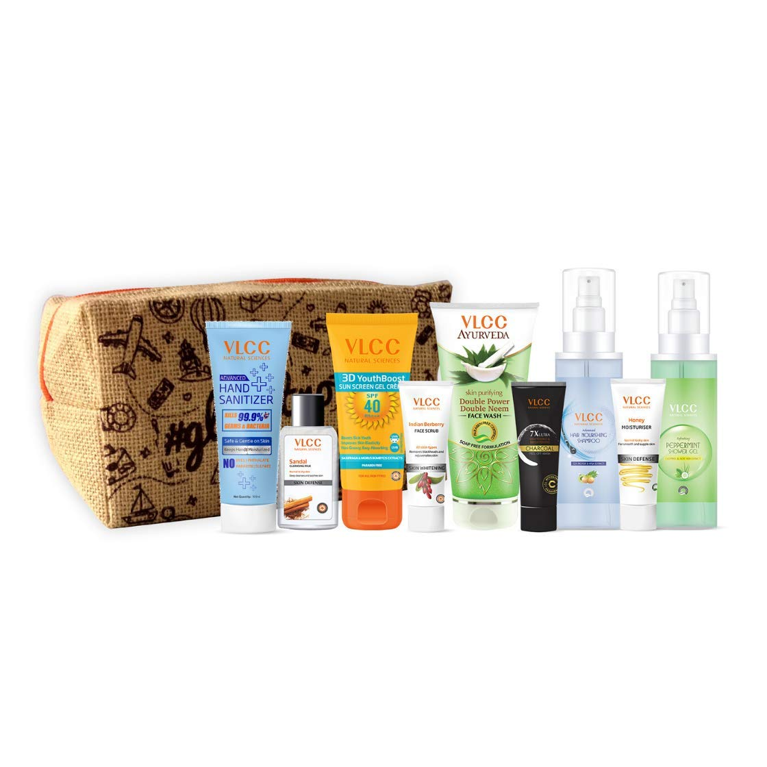VLCC Refresh & Glow Kit with Pouch (Pack of 9)