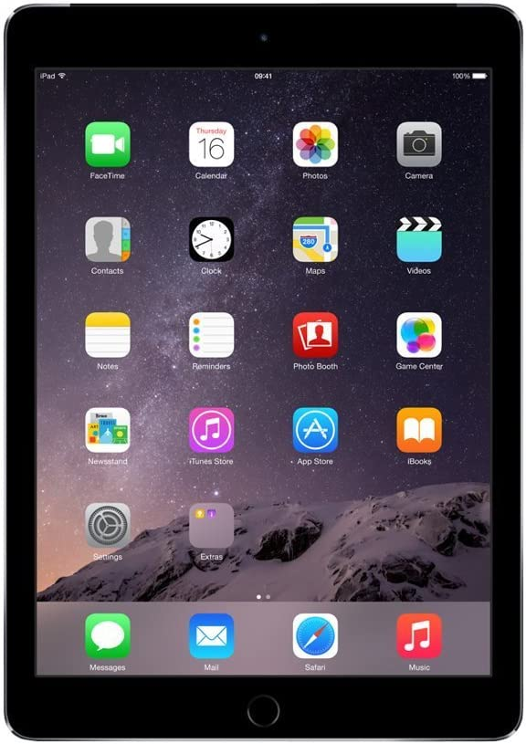 Apple iPad Air 2 MH312LL/A (128GB, Wi-Fi + Cellular, Space Gray) 2014 Model (Renewed)