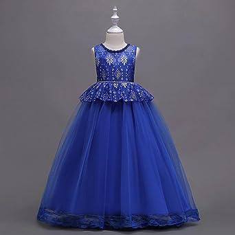 Vestido de niñas, ❤ Manadlian Vestido Elegante de Princesa Niña Traje de Ceremonia Vestido Largo Fiesta con Lentejuelas Brillantes: Amazon.es: Ropa y ...