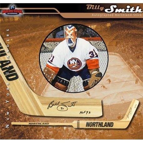 - Billy Smith Autographed Hockey Stick - Rangers Inscribed HOF 93 Northland Goalie - Autographed NHL Sticks