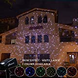 Poeland Christmas White Laser Lights Star Projector 7 Color