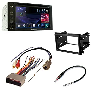 61lhjP9ZFeL._SY355_ amazon com car cd stereo receiver dash install mounting kit wire  at nearapp.co