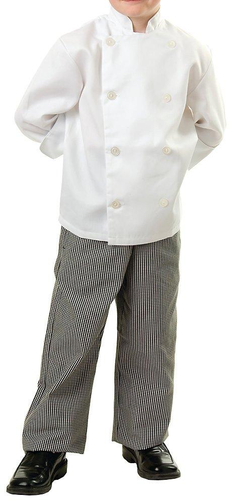 Child Classic White Long Sleeve Chef Coat, KL