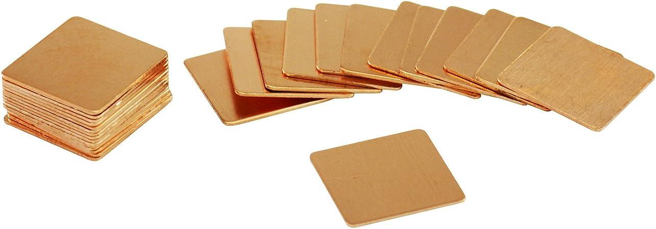 remache t/érmico hecho de cobre de alta calidad con alta conductividad t/érmica mk AAB Cooling Copper Pad 15x15x2 mm 401W