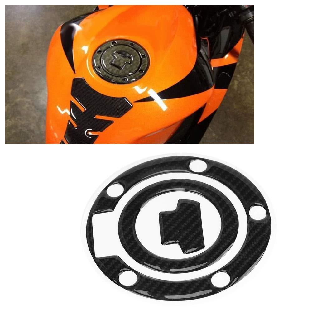 Calcoman/ías de la Etiqueta Engomada de la Cubierta del Coj/ín del Tanque de Gasolina de la Motocicleta de Fibra de Carbono para YZF-R1 R6 EBTOOLS Etiqueta Engomada del Tanque de la Motocicleta