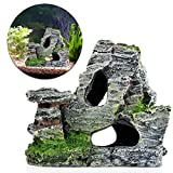 Mimgo Aquarium Mountain Coral Reef Rock Cave Stone Moss Fish Tank Ornament Decoration