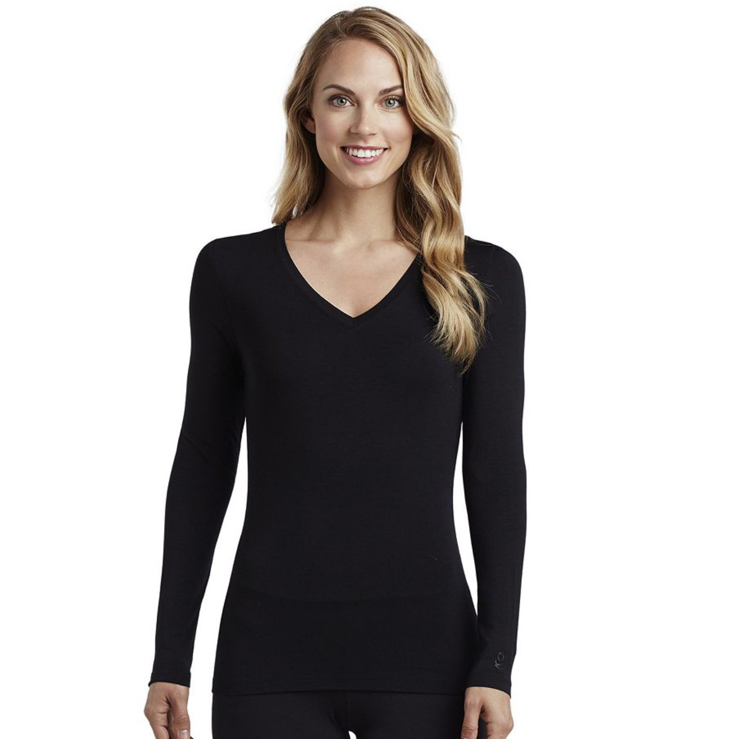 Fruit of the Loom Women's Core Performance Thermal Top (Large, Black)