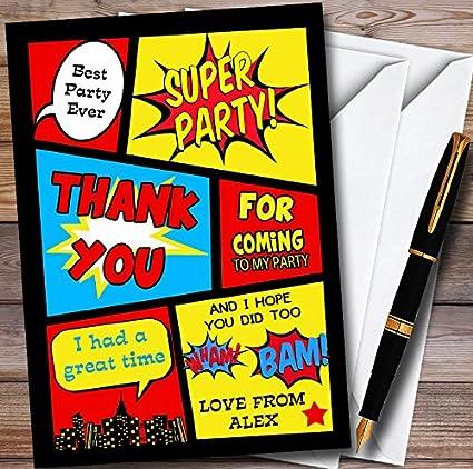 10 x niños Superhero Comic personalizado niños fiesta de ...