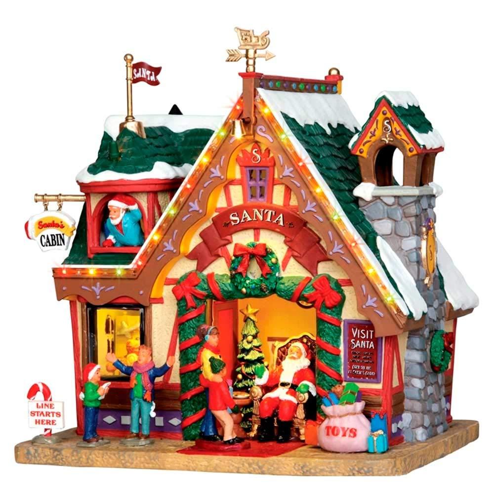 Lemax - Santa's Cabin - 15,5cmx20,7cmx19,2cm - Santas Haus beleuchtet beleuchtet beleuchtet - 4,5V - Porzellan 7d4502