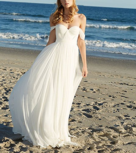 line Weiß Chiffon Mingxuerong Bh Push Up Damen Hochzeitskleid Lang Weiß A 5TnTxqr6Yw
