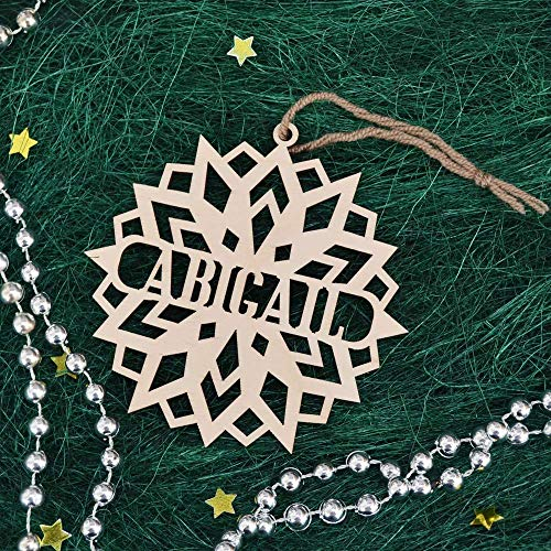 Personalized Snowflake Ornament - Christmas Tree Decoration - Custom Christmas Gift - Engraved Christmas Ornaments - Snowflake Decorations