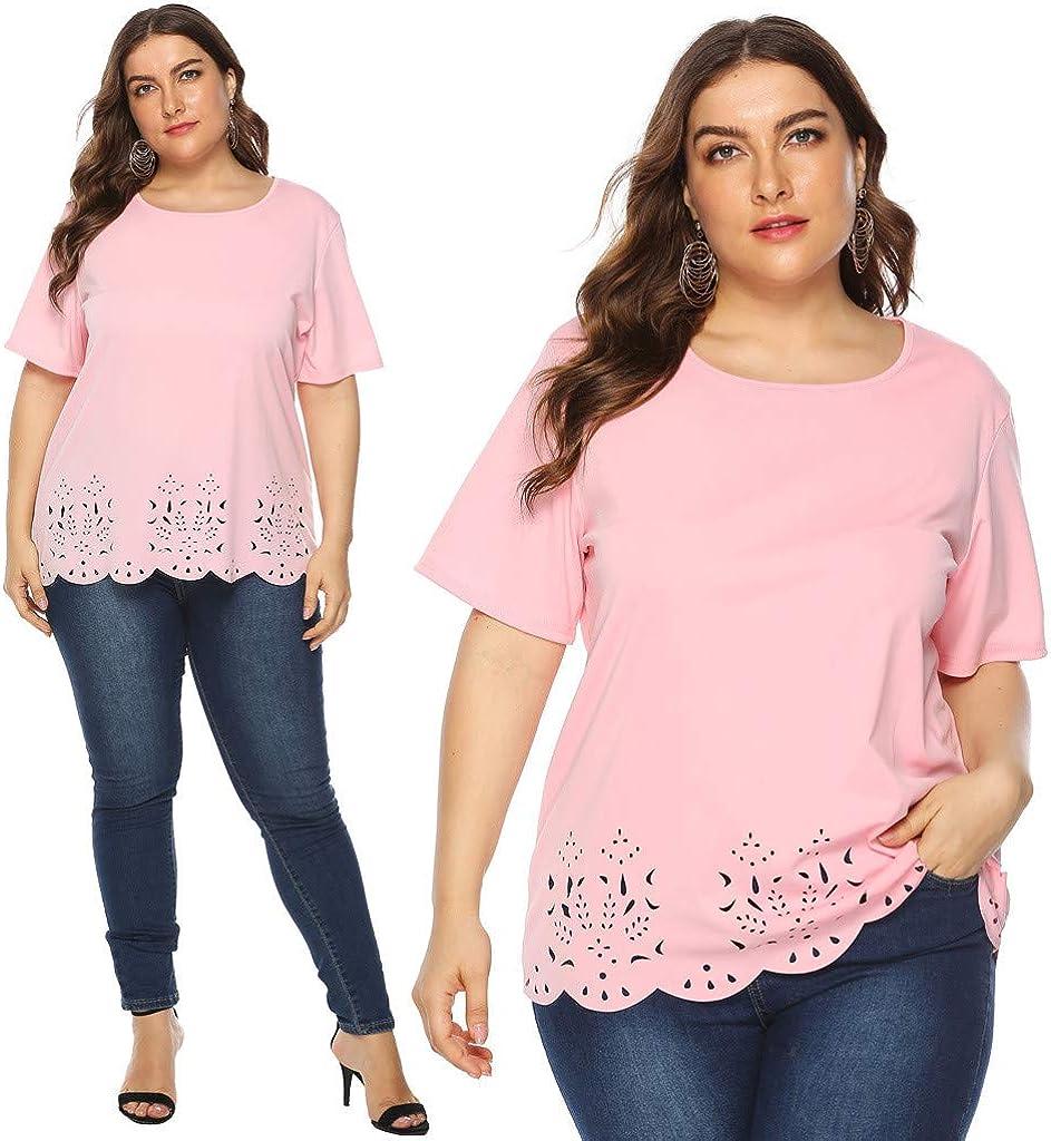 WearAll Womens Plus Size Flared Plain Short Sleeve Top 12 Light Green