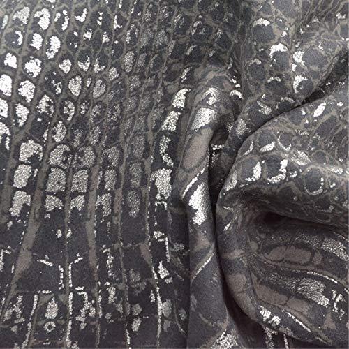 Leather Metallic Calfskin (Fashion Silver Croc Skin Leather Calfskin 8