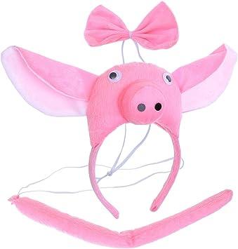 BESTOYARD Disfraz de Cerdo para Niños Diadema Animal Conjunto de ...