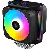 Pccooler GI-D66A CPU Cooler Moonlight Series | Dual Silent CPU PWM Fan 120mm | E-Sports Plexiglass Top Cover Sync with ARGB L