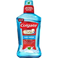 Colgate Total Daily Repair Mouthwash with Fluoride, Fresh Mint, 1 L
