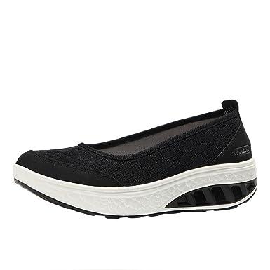 Zapatos para Mujer,❤ ❤ RETUROM 2018 Zapatillas de Plataforma con Cojines de Aire para Mujer Zapatos con Forma de Sacudida Zapatillas de Deporte con ...