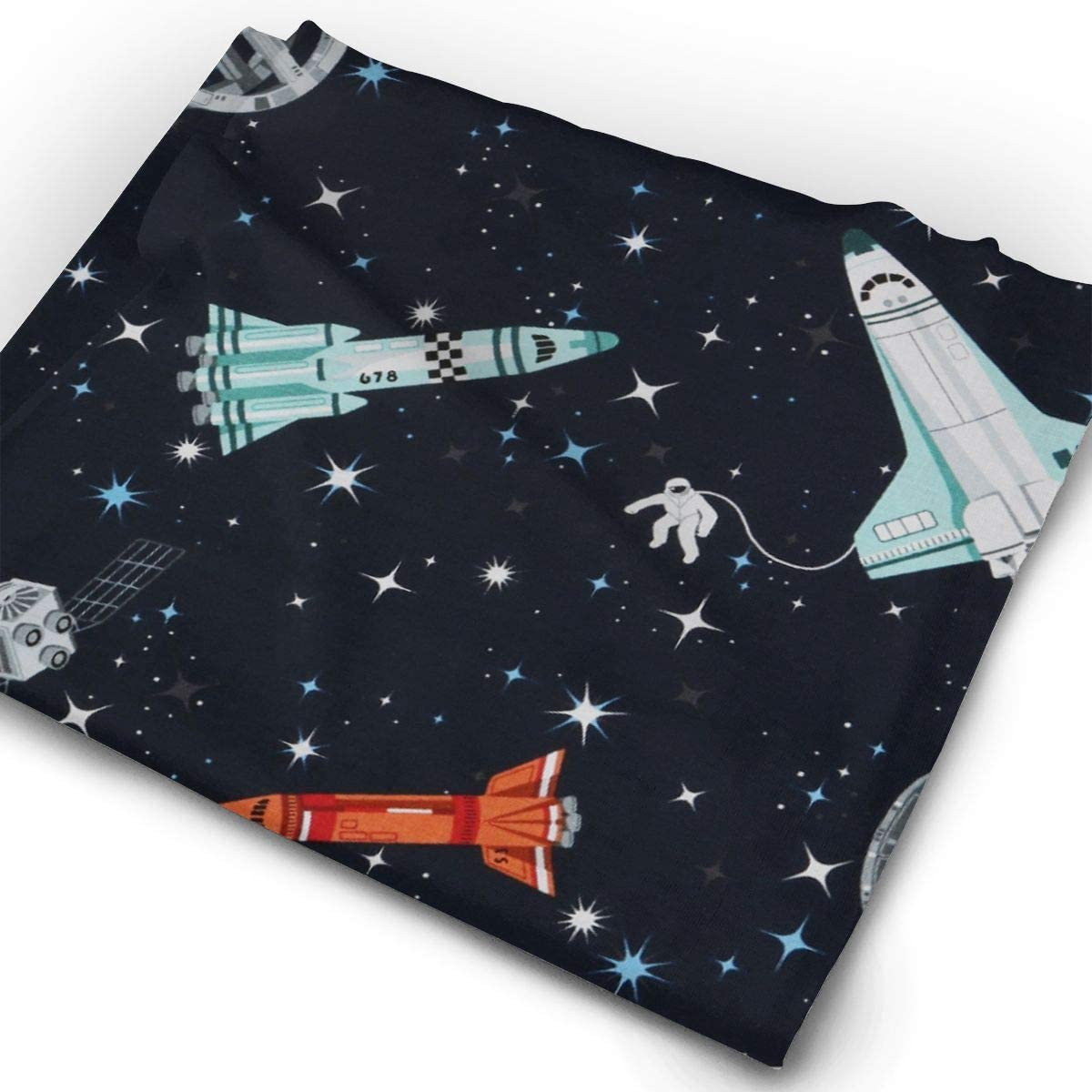Space Vehicle Unisex Fashion Quick-Drying Microfiber Headdress Outdoor Magic Scarf Neck Neck Scarf Hooded Scarf Super Soft Handle