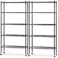 4/5-Tier Kitchen Racks Shelving Unit Storage Racking Mobile Kitchen Trolley Cart Portable
