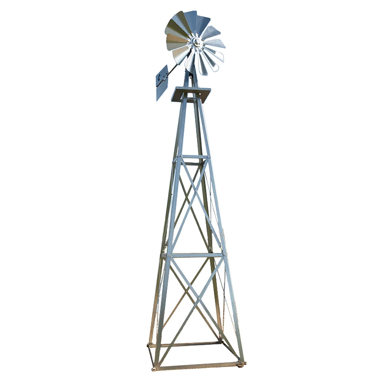 Charmant Amazon.com : Outdoor Water Solutions 12 Foot Galvanized Backyard Windmill :  Outdoor Statues : Garden U0026 Outdoor