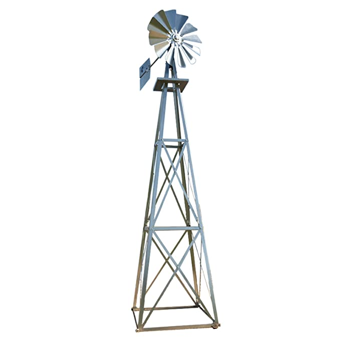 Outdoor Water Solutions 12-Foot Galvanized Backyard Windmill