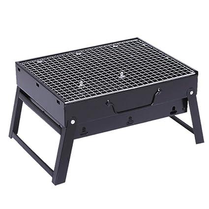 ZZ-aini Barbacoa de Carbón Portátil Plegable BBQ, Camping Sobremesa Balcones Aire Libre Barbecue
