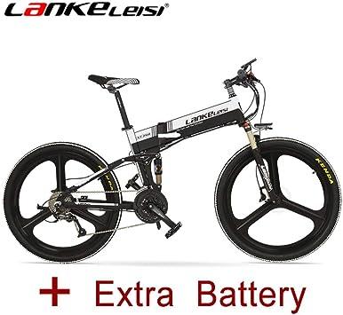 LANKELEISI 26 pulgadas plegable bicicleta eléctrica Motor 240w 48V ...