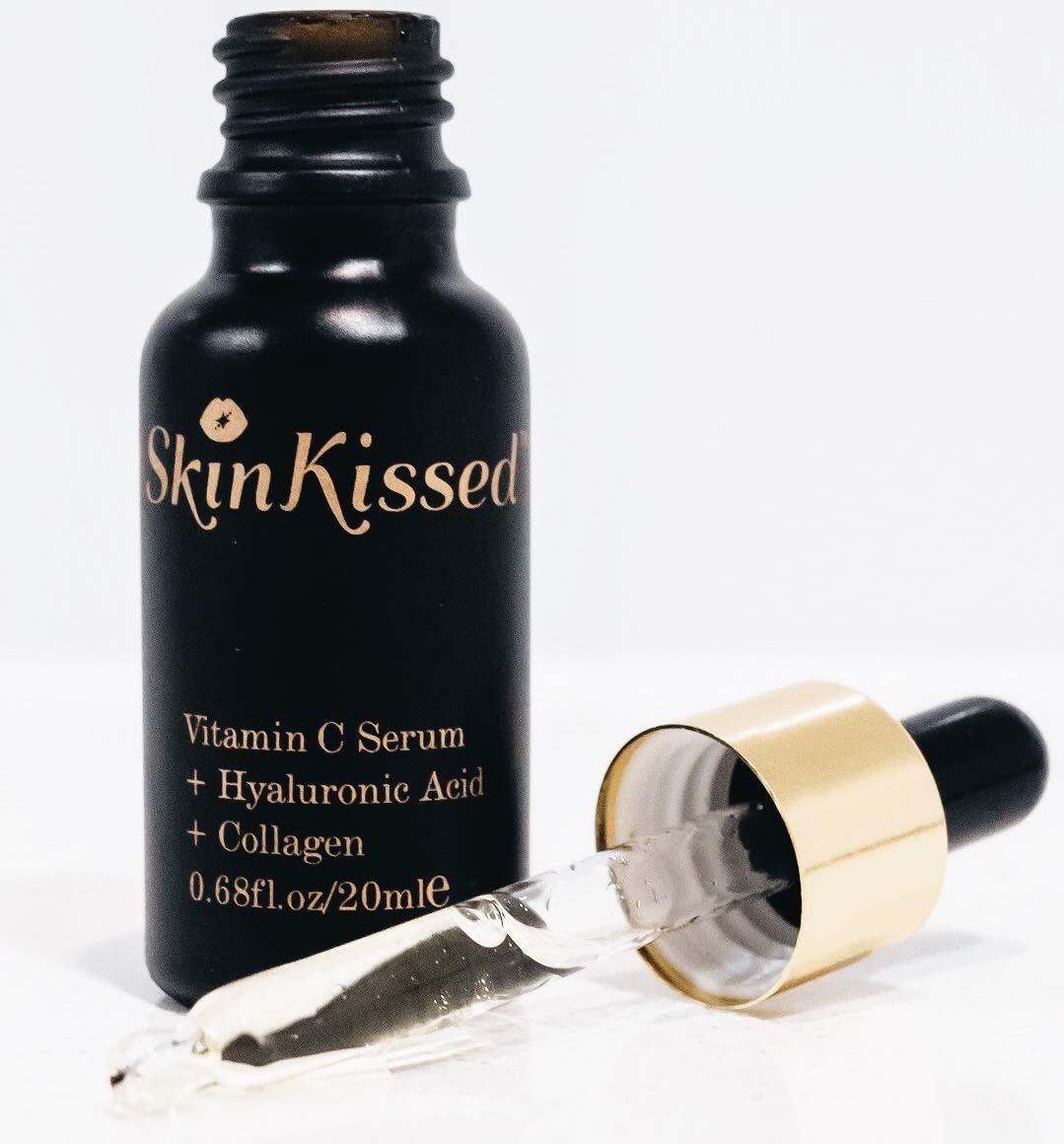 Vitamina C siero–acido ialuronico collagene–Primer per trucco–aiuta a rimuovere l' acne, rughe e imperfezioni–Best anti invecchiamento della pelle e del viso per le donne skinkissed