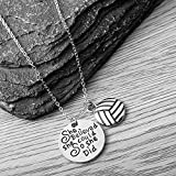 Sportybella Volleyball Necklace - Girls Volleyball She Believed She Could So She Did Jewelry - Perfect Volleyball Gifts for Players