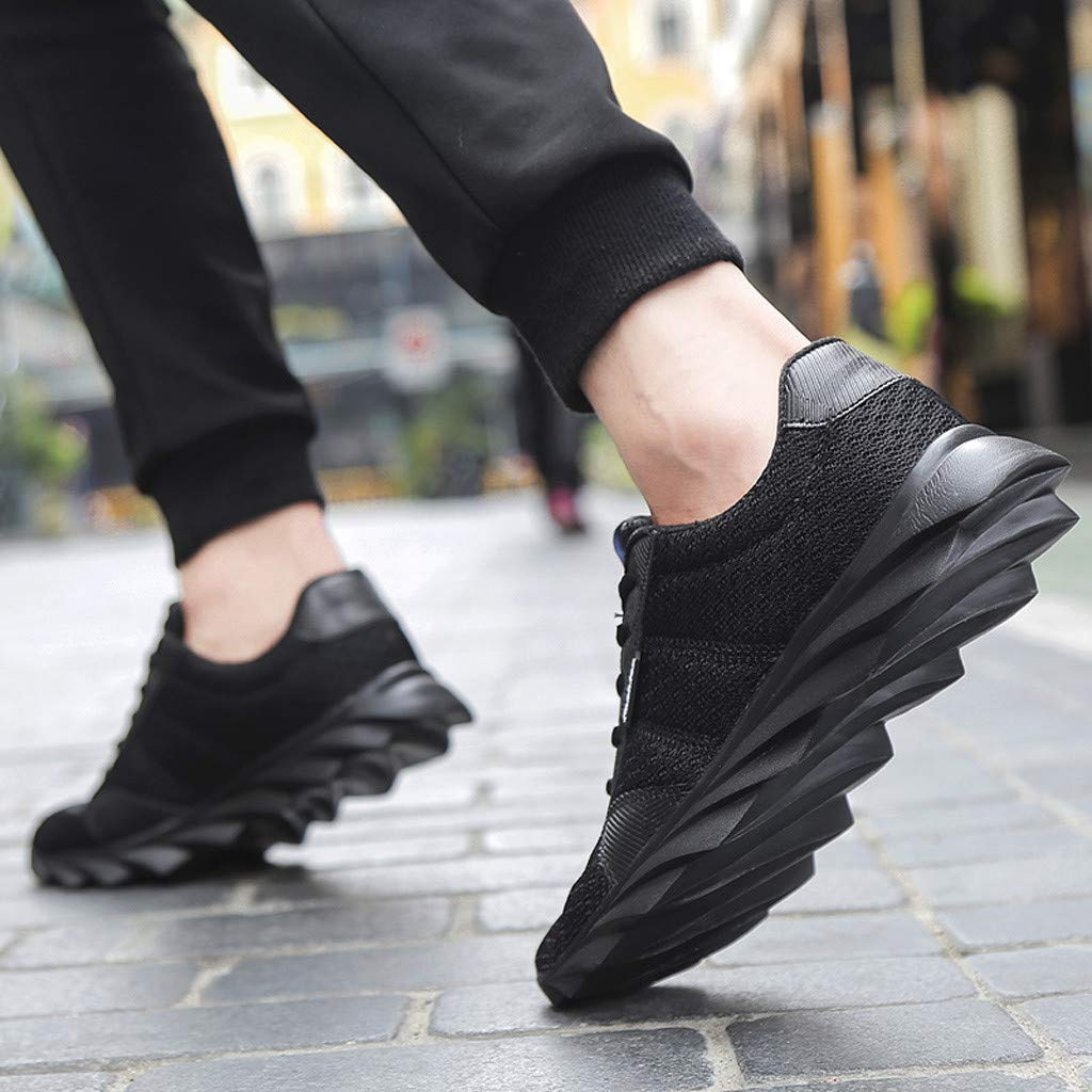BIKETAFUWY Mens Running Shoes Flying Woven Breathable Mesh Sneakers Walking Sports Shoe for Men Athletic Lightweight