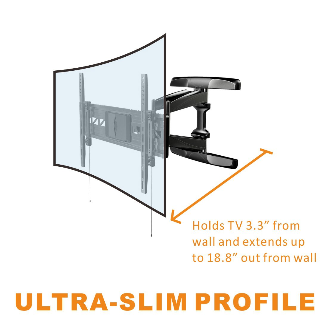 Loctek 188 Long Extension Curved Tv Wall Mount Bracket 55 Samsung Wiring Diagram For 32 70 Inch Both And Flat Panel Tvs With Vesa Patterns Up To 600 X