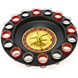 Drinking Game Glass Roulette - Drinking Game Set (2 Balls and 16 Glasses) Casino Style Drinking Game - By Bo Toys