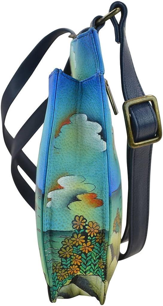 Anna by Anuschka Cross Body Handbag /& Key Chain
